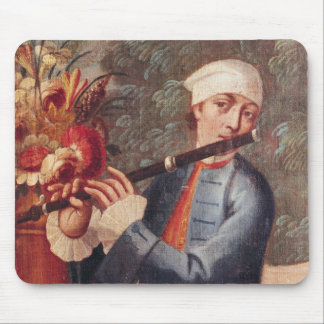 A Flautist, detail from a screen Mouse Mat