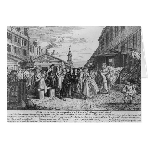 A Fleet Wedding, 1747 Greeting Card