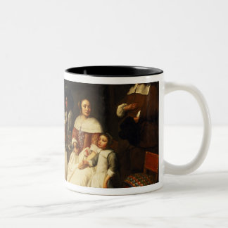 A Flemish Family at Dinner Two-Tone Coffee Mug