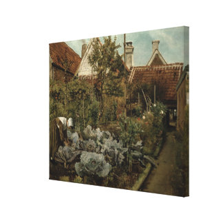 A Flemish Garden Canvas Print