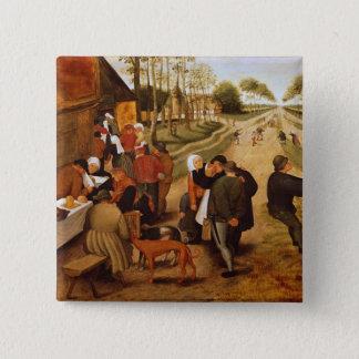 A Flemish Kermesse 15 Cm Square Badge