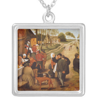 A Flemish Kermesse Silver Plated Necklace
