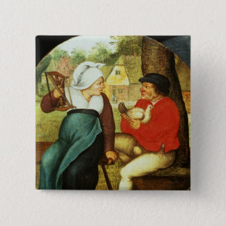 A Flemish Proverb 15 Cm Square Badge