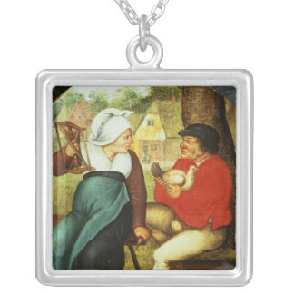 A Flemish Proverb Silver Plated Necklace