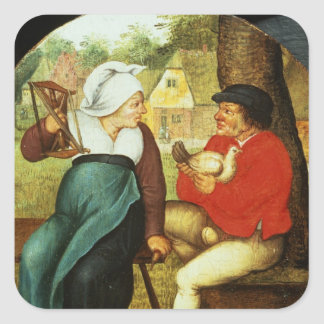 A Flemish Proverb Square Sticker