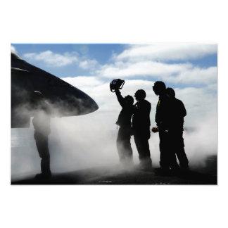 A flight deck crew member photo print