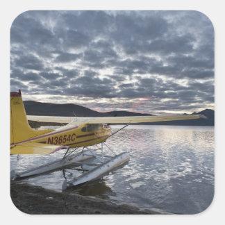 A floatplane in scenic Takahula Lake 2 Square Sticker