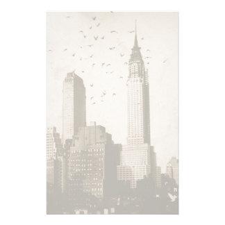 A flock of birds flying stationery