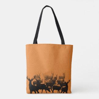 A flock of deer tote bag