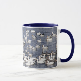 A Flock of Snow Geese at the Beach Mug