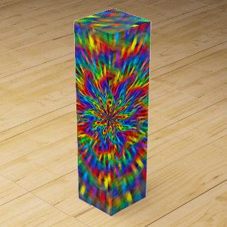 A Floral Tie Dye Wine Bottle Box