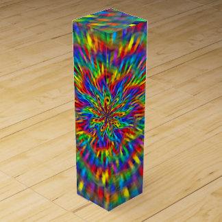 A Floral Tie Dye Wine Gift Box