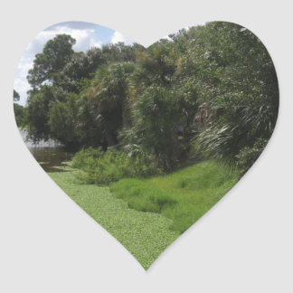 A Florida Waterway Heart Sticker