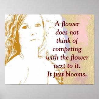 A flower blooms -art print