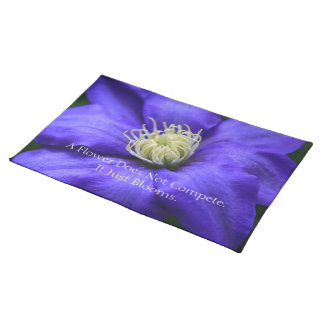 A Flower Does Not Compete Quote Custom Place Mats