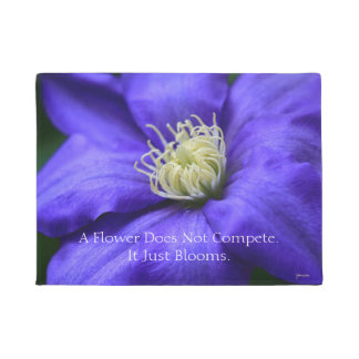 A Flower Does Not Compete Quote Doormat