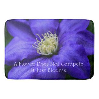 A Flower Does Not Compete Quote Kitchen Mat / Bath Mats