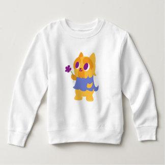 """A Flower For You"" Short-haired Kawaii Yorkie Sweatshirt"