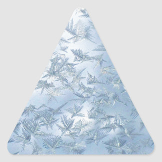 A Flurry Of Frost Flowers Triangle Sticker