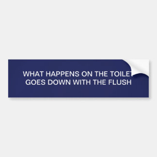 A FLUSHING LINE BUMPER STICKER