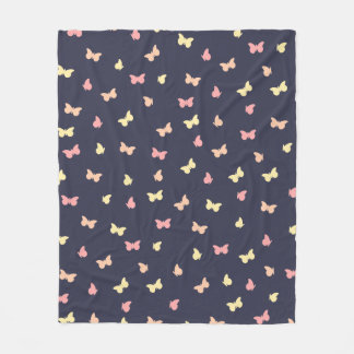 A flutter of butterflies fleece blanket