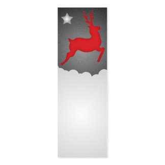 A Flying Red Reindeer Double-Sided Mini Business Cards (Pack Of 20)