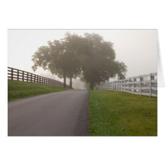 A Foggy Bluegrass Morning Card