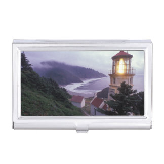 A foggy day on the Oregon coast at the Heceta Business Card Holder