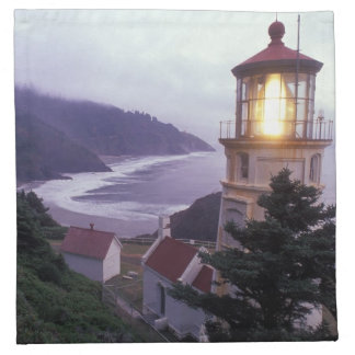 A foggy day on the Oregon coast at the Heceta Napkin
