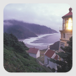A foggy day on the Oregon coast at the Heceta Square Sticker