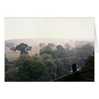 A Foggy English Field Card