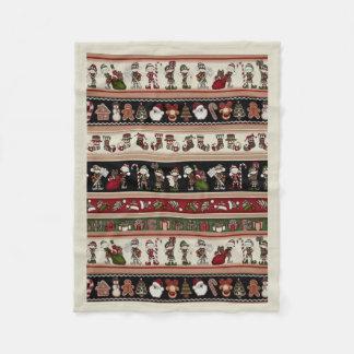 A Folk Art Christmas Christmas Fleece Blanket