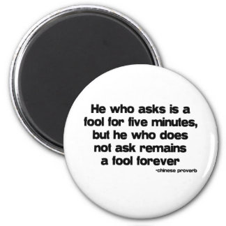 A Fool Forever quote 6 Cm Round Magnet