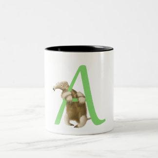 A for Anteater Initial - Mug - Green