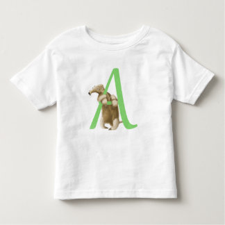 A for Anteater - Toddler Tshirt - Green