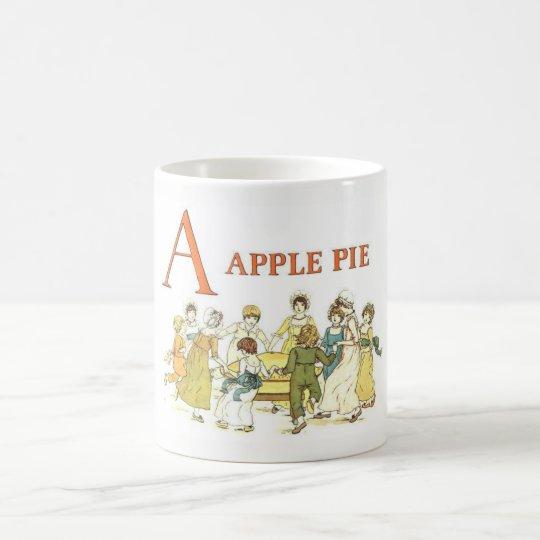 A for Apple Pie vintage classic mug