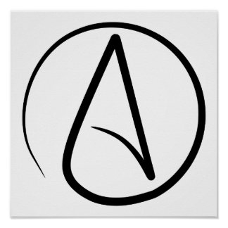 'A' For Atheism Poster