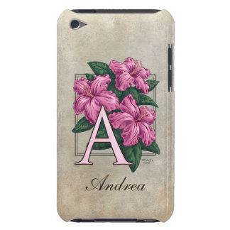 A for Azaleas Flower Monogram Barely There iPod Covers