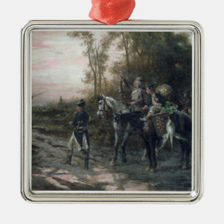 A Foraging Party Returning to Camp (oil on canvas) Christmas Ornament