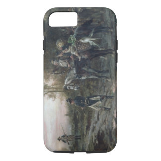 A Foraging Party Returning to Camp (oil on canvas) iPhone 8/7 Case