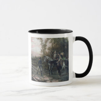 A Foraging Party Returning to Camp (oil on canvas) Mug