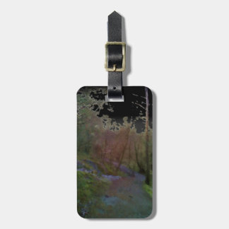 A forest luggage tag