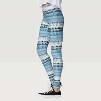 A Forest Pattern in Blues III Leggings