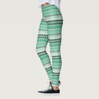 A Forest Pattern in Greens Leggings