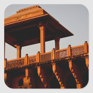 A fort at Agra Square Stickers