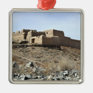 A fortified compound in the village of Akbar Kh Christmas Ornament