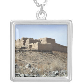 A fortified compound in the village of Akbar Kh Silver Plated Necklace