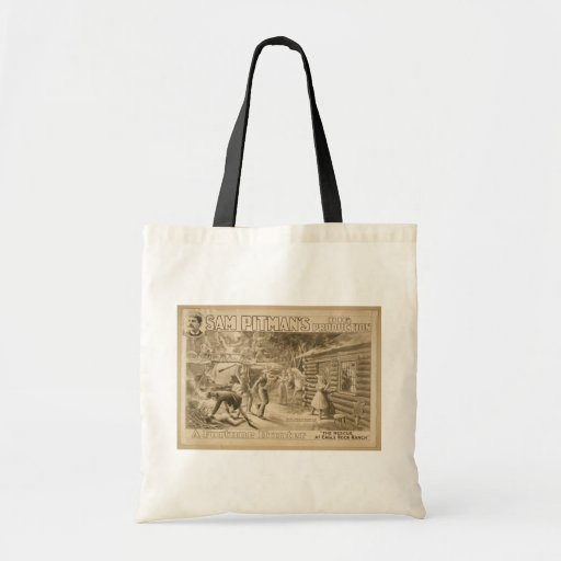 A Fortune Hunter, 'The Rescue at Eagle Rock Ranch' Canvas Bags