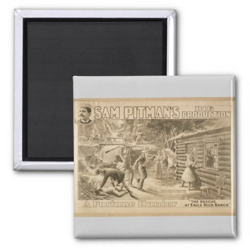 A Fortune Hunter, 'The Rescue at Eagle Rock Ranch' Fridge Magnet