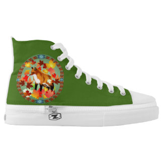 A FOX in FALL Printed Shoes